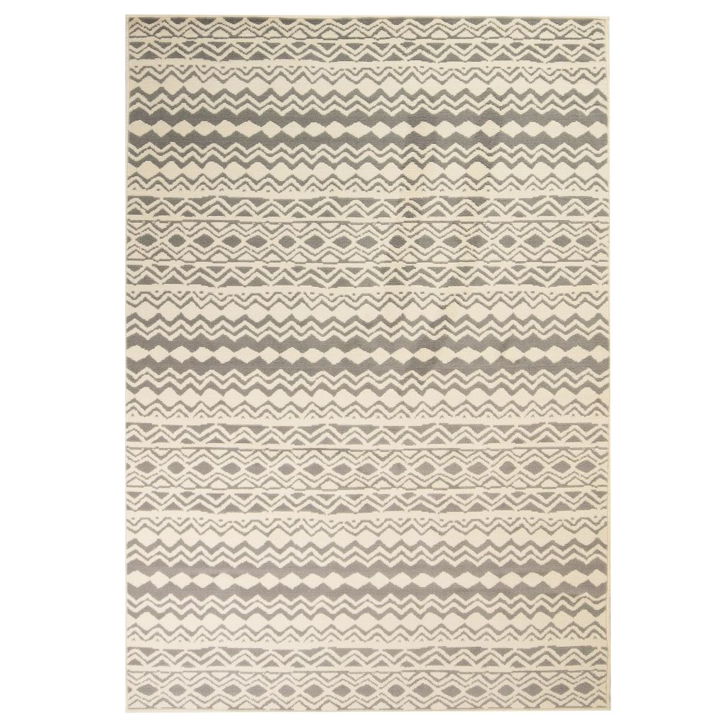 vidaXL Covor modern, design tradițional, 80 x 150 cm, bej/gri