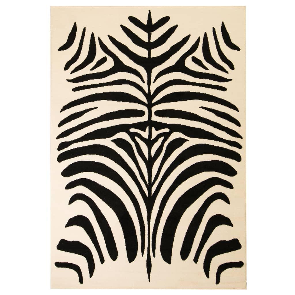 vidaXL Covor modern, design zebră, 80 x 150 cm, Bej/negru