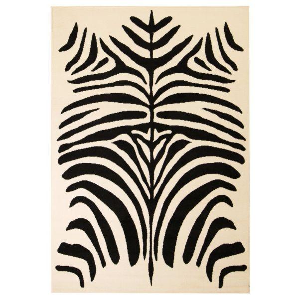 vidaXL Covor modern cu design zebră, 160 x 230 cm, bej/negru