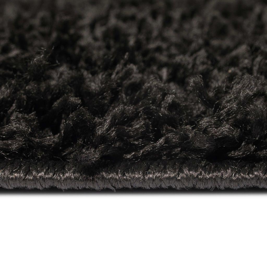 Covor cu fir lung 80 x 150 cm Negru