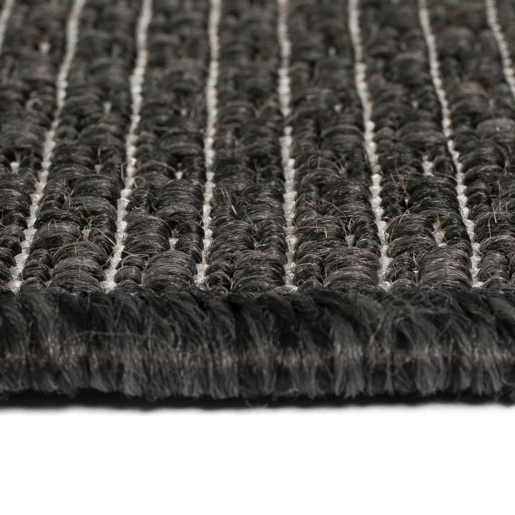 vidaXL Covor aspect sisal de interior/exterior 140×200 cm Gri închis
