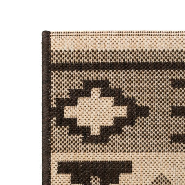 vidaXL Covor aspect sisal de interior/exterior 120×170 cm design etnic