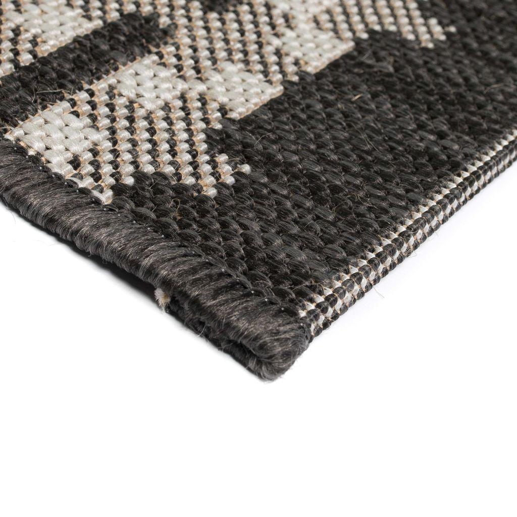 Covor aspect sisal de interior/exterior, 80×150 cm, pătrate