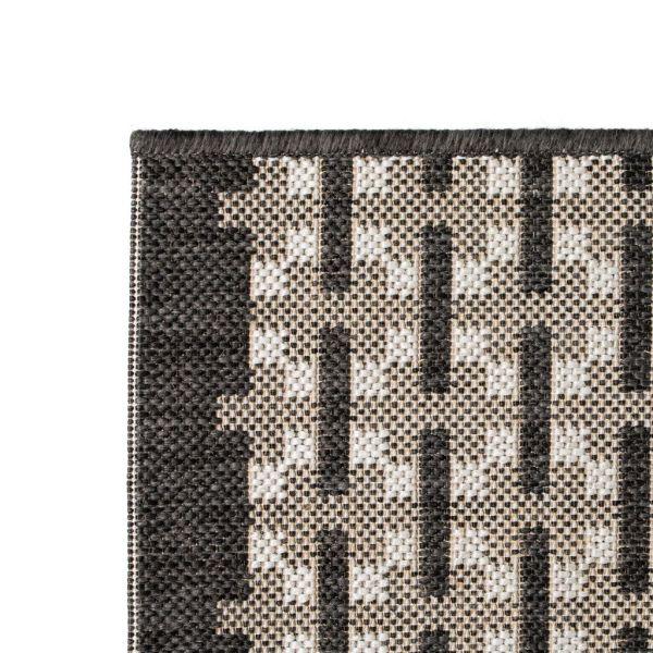 Covor aspect sisal de interior/exterior, 140 x 200 cm, pătrate