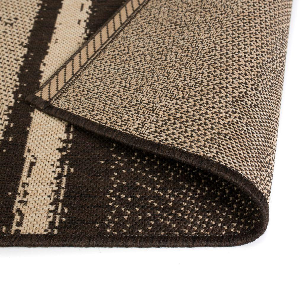 vidaXL Covor aspect sisal de interior/exterior, 120 x 170 cm, dungi