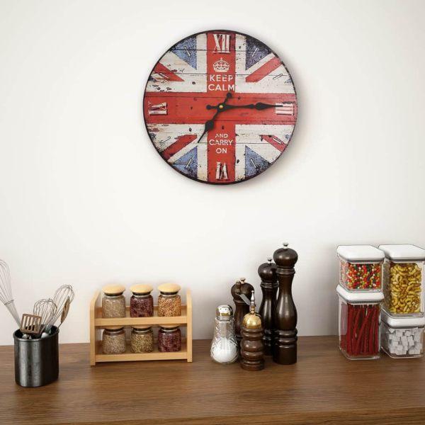 Ceas de perete vintage UK, 30 cm