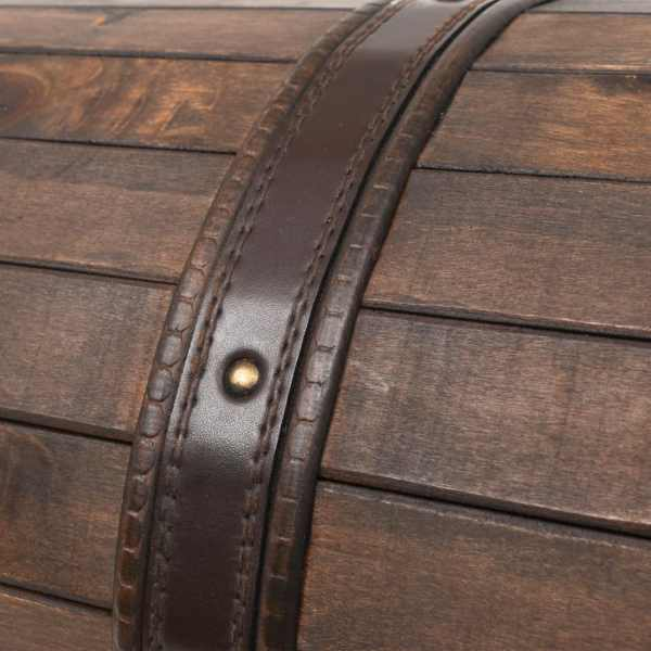vidaXL Cufăr de depozitare, lemn masiv, stil vintage 120 x 30 x 40 cm