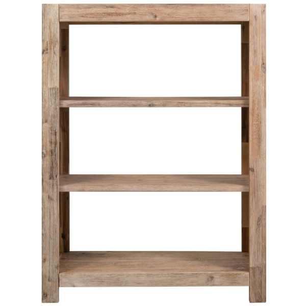 Bibliotecă cu 3 rafturi, 80x30x110 cm, lemn masiv de acacia