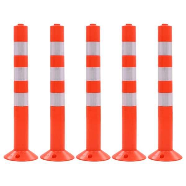 vidaXL Baliză control trafic, 5 buc., plastic, 75 cm