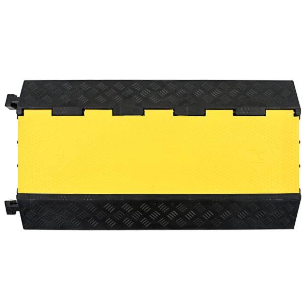 vidaXL Rampă de protecție cabluri, 3 canale, cauciuc 93 cm