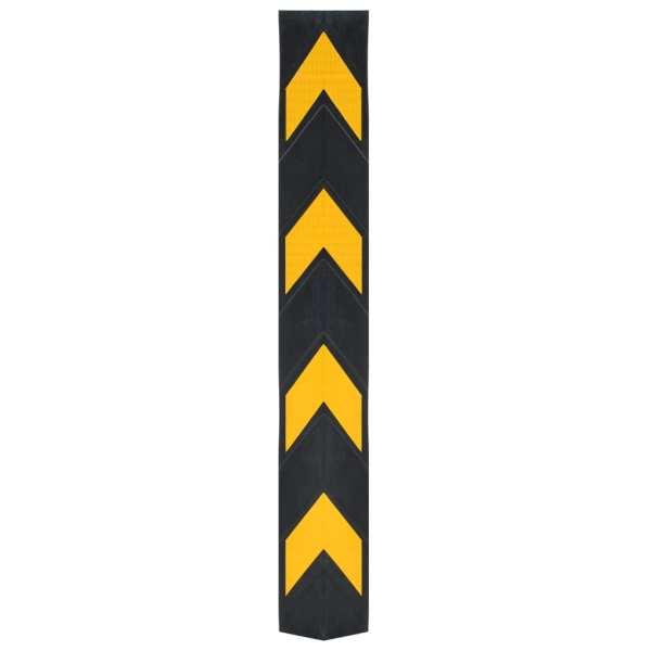 Colțare protectoae reflectorizante, 5 buc., cauciuc, 80 cm