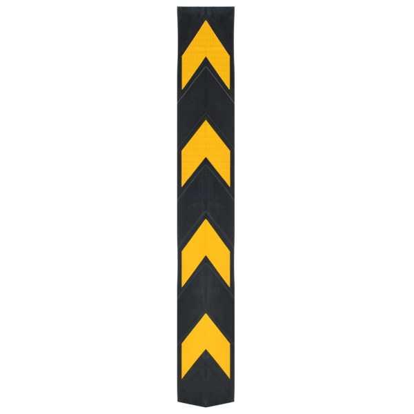 vidaXL Colțare reflectorizante, 10 buc, cauciuc, 80 cm