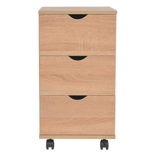 vidaXL Dulap cu sertare, 33 x 45 x 60 cm, stejar