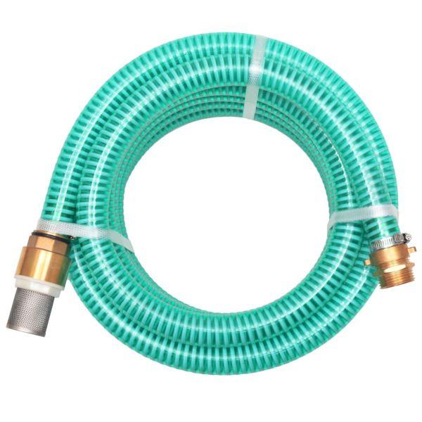 vidaXL Furtun de aspirație, conectori de alamă, 4 m, 25 mm, verde