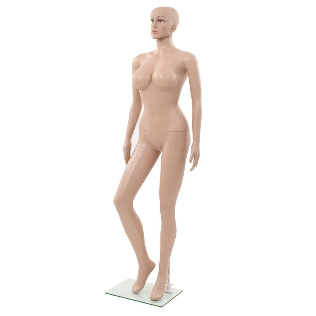 vidaXL Manechin feminin sexy, suport din sticlă, bej, 180 cm