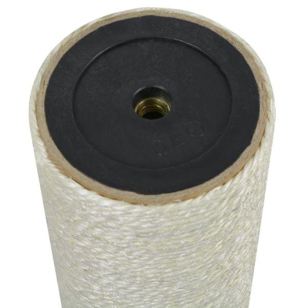 vidaXL Ansamblu de joacă pentru pisici 8×25 cm, 10 mm Bej