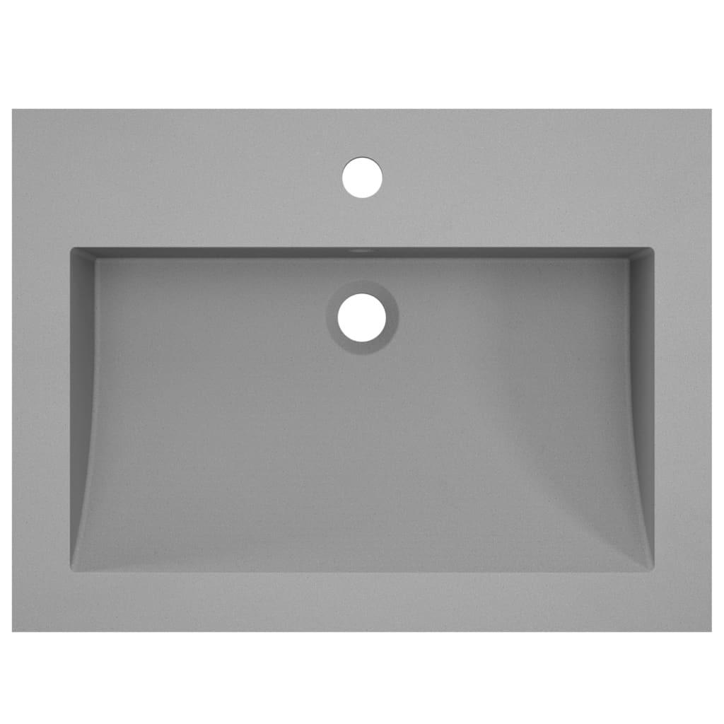 vidaXL Chiuvetă din granit, gri, 600 x 450 x 120 mm
