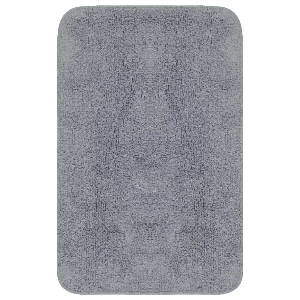 vidaXL Set covorașe baie, 2 buc., gri, textil