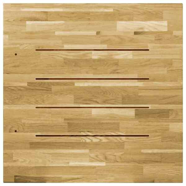Blat de masă, lemn masiv de stejar, pătrat, 23 mm, 80×80 cm