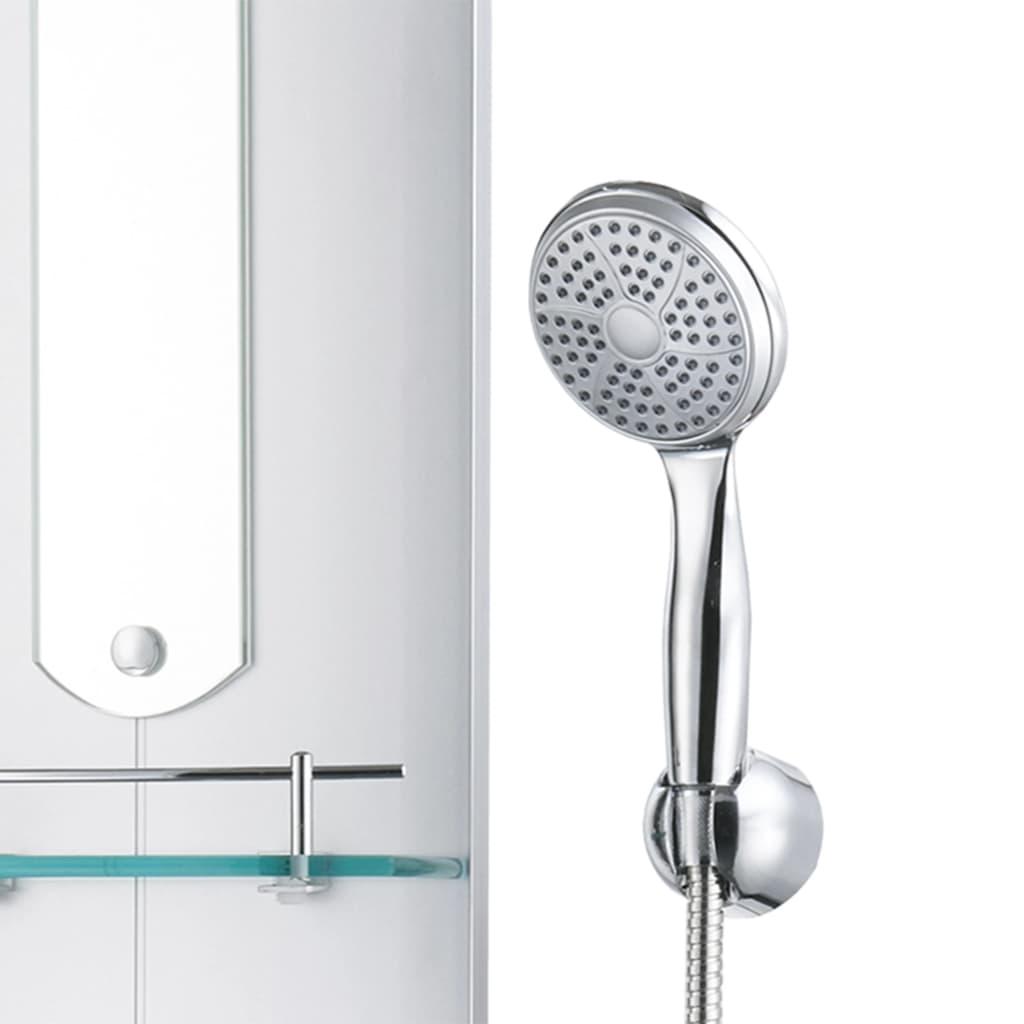 vidaXL Unitate panou de duș, 25 x 43 x 120 cm, argintiu