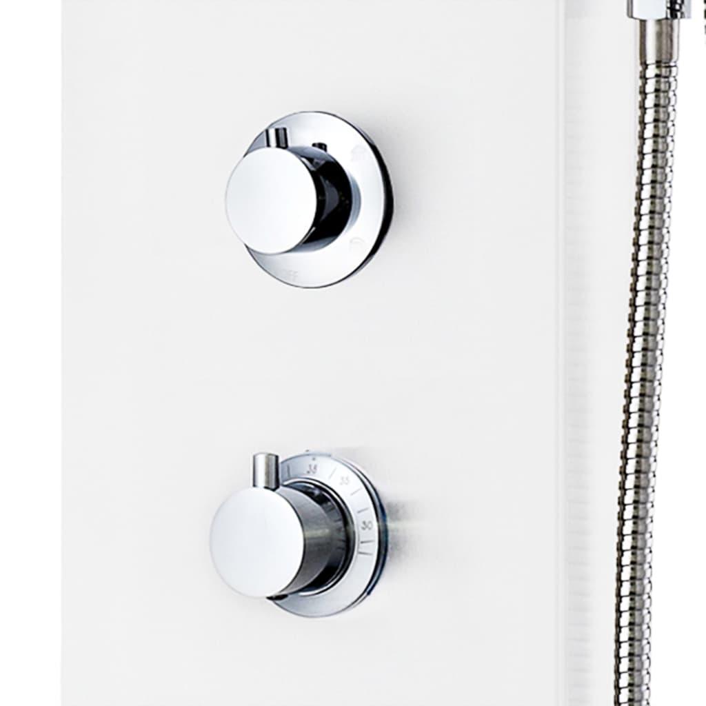 vidaXL Unitate panou de duș, aluminiu, 20 x 44 x 130 cm, alb