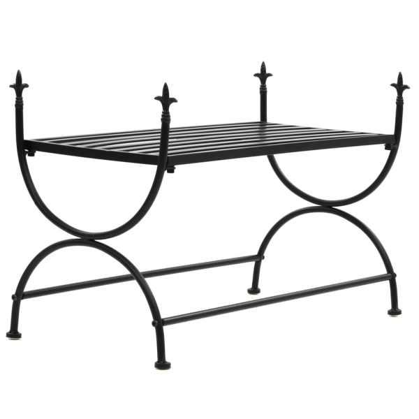 vidaXL Bancă în stil vintage, negru, metal, 83x42x55 cm