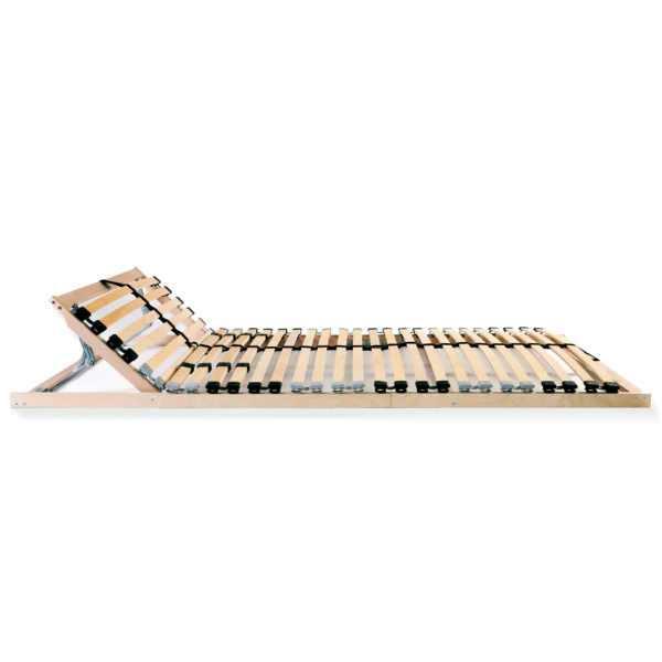 Bază de pat cu șipci, 28 șipci, 7 zone, 140 x 200 cm