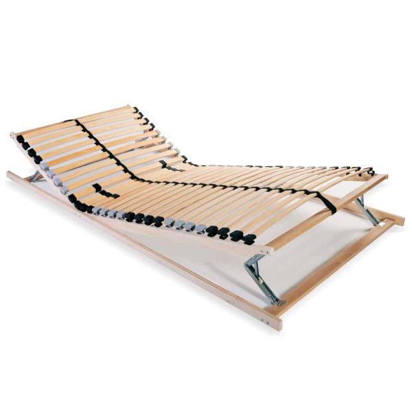 vidaXL Bază pat cu șipci, 28 șipci, 7 zone, 90 x 200 cm