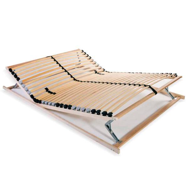 vidaXL Bază de pat cu șipci, 28 șipci, 7 zone, 120 x 200 cm