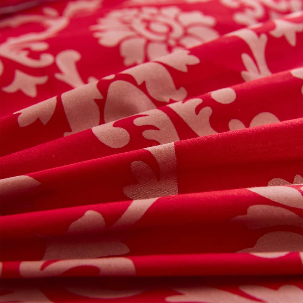 Set husă pilotă model dungi, roșu, 140 x 200/60 x 70 cm