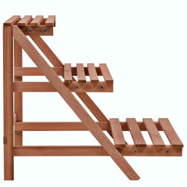 Stativ de plante cu 3 rafturi, lemn de cedru, 48x45x40 cm