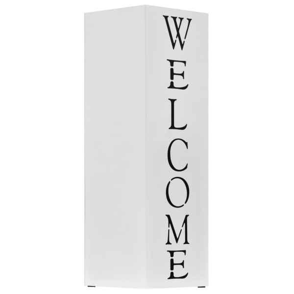 Suport pentru umbrelă Welcome, oțel, alb