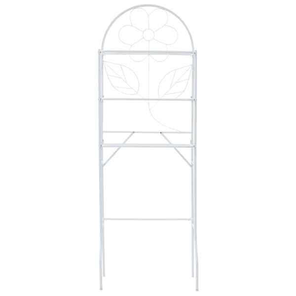 vidaXL Etajeră de toaletă, alb, 60 x 33 x 174 cm