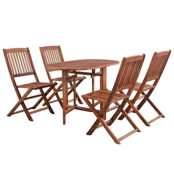 vidaXL Set mobilier de exterior pliabil, 5 piese, lemn masiv de acacia