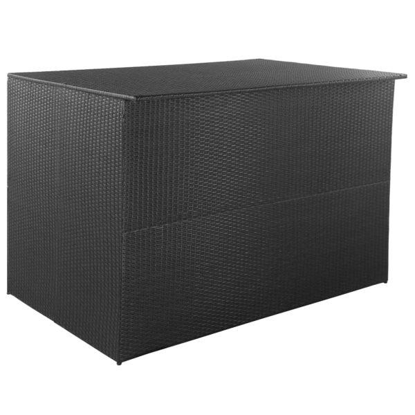 vidaXL Ladă de depozitare de grădină, negru, 150x100x100 cm, poliratan