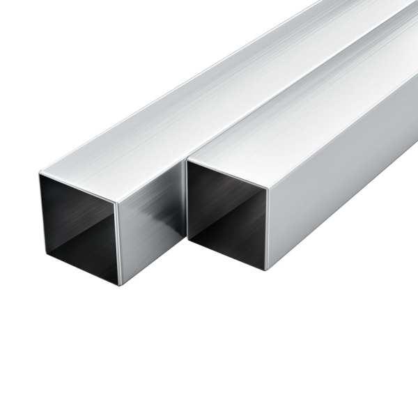 vidaXL Tuburi din aluminiu, secțiune pătrată, 6 buc, 40x40x2 mm, 1 m