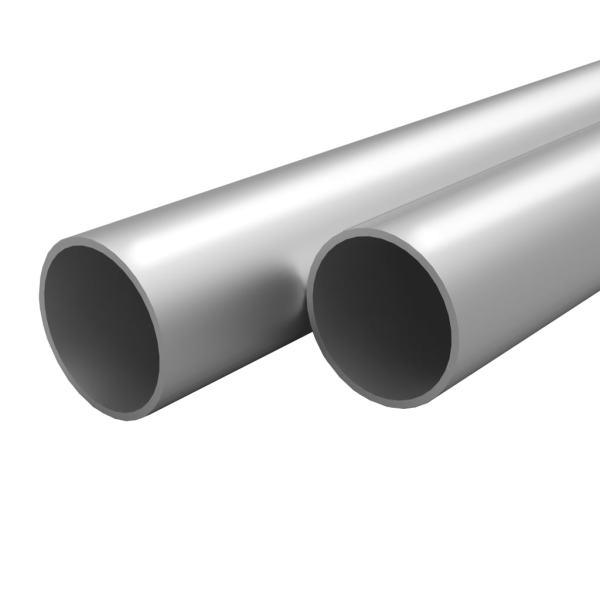 vidaXL Tuburi din aluminiu, 4 buc., 2 m, Ø40 x 2 mm, rotund