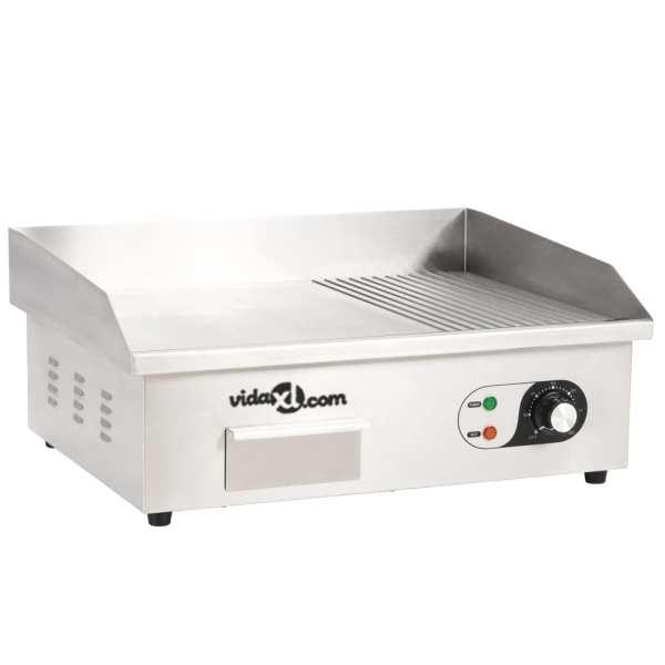vidaXL Tavă electrică din oțel inoxidabil, 54 x 41 x 24 cm, 3000 W