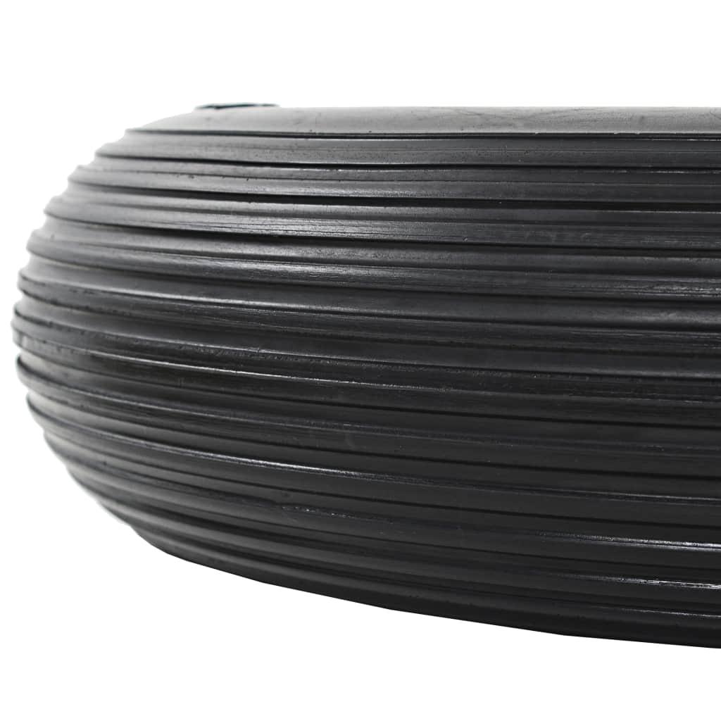 Roți de roabă cu osie, 2 buc, 4.00-8, PU solid, 390 mm