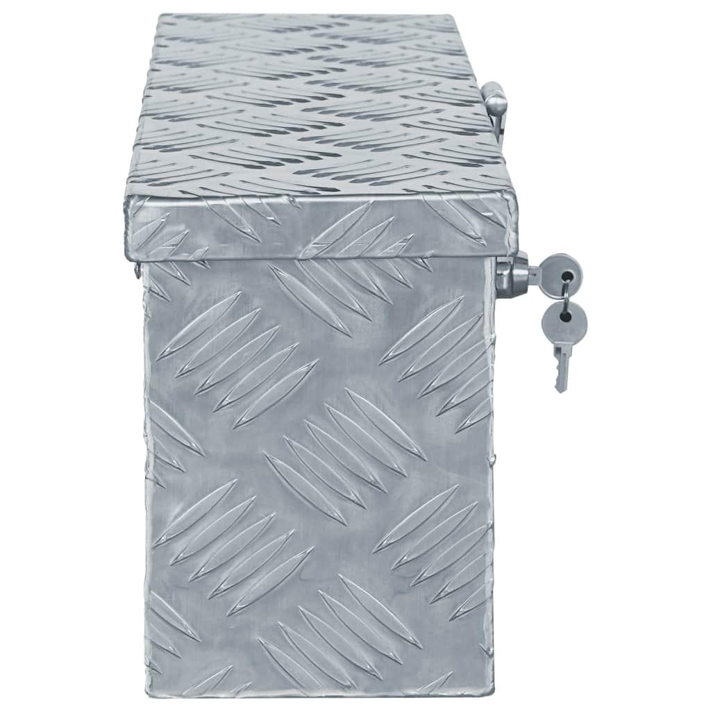 vidaXL Cutie din aluminiu, 48,5 x 14 x 20 cm, argintiu