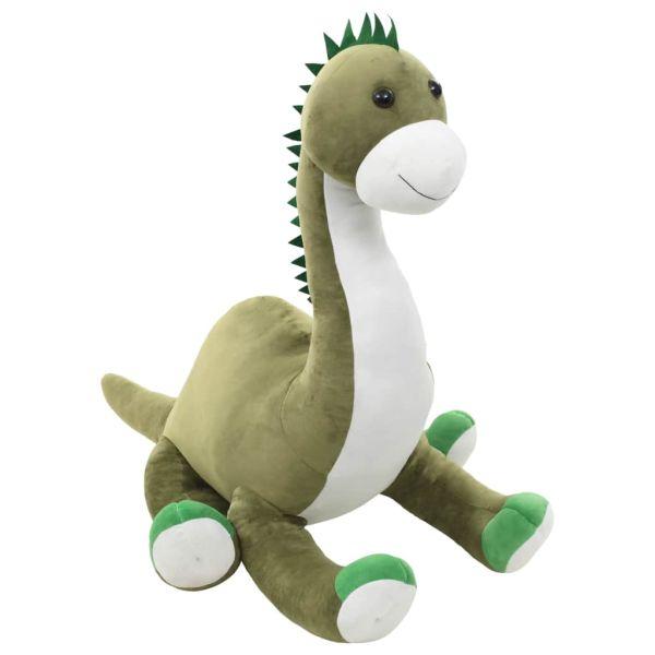 vidaXL Jucărie dinozaur Brontosaurus, verde, pluș