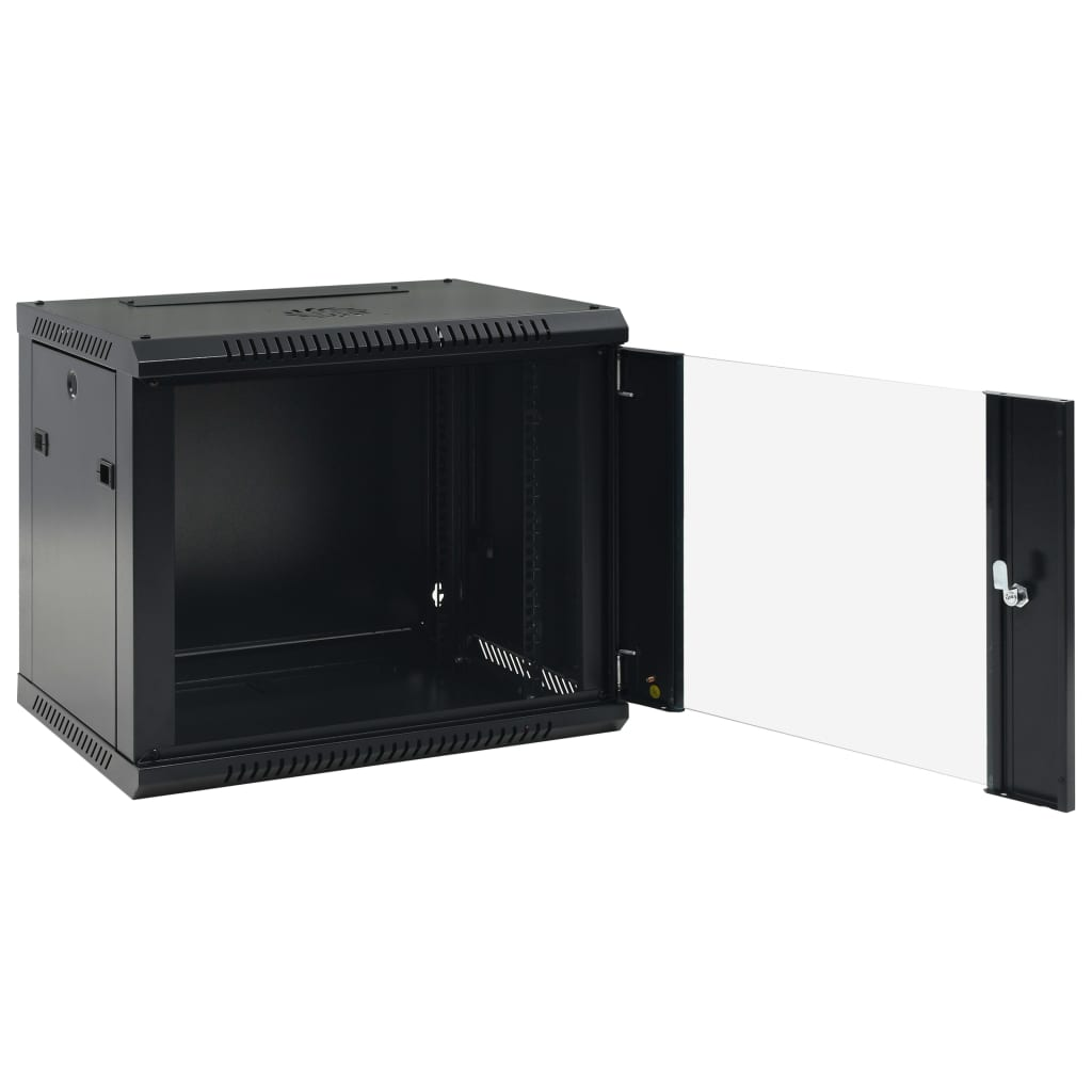 vidaXL Dulap de server 9U, montare pe perete, 19″ IP20 600x450x500 mm