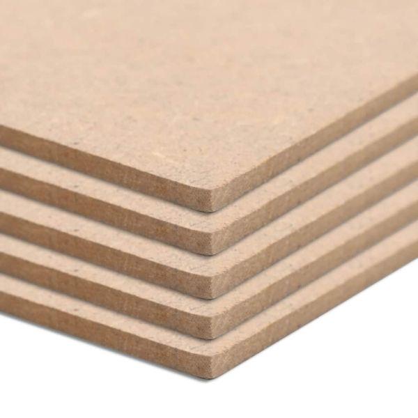 vidaXL Plăci MDF, 4 buc., 60 x 60 cm, pătrat, 12 mm