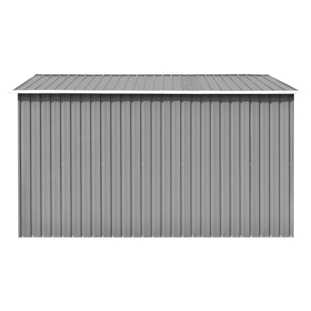 vidaXL Șopron de grădină, 257 x 298 x 178 cm, metal, gri
