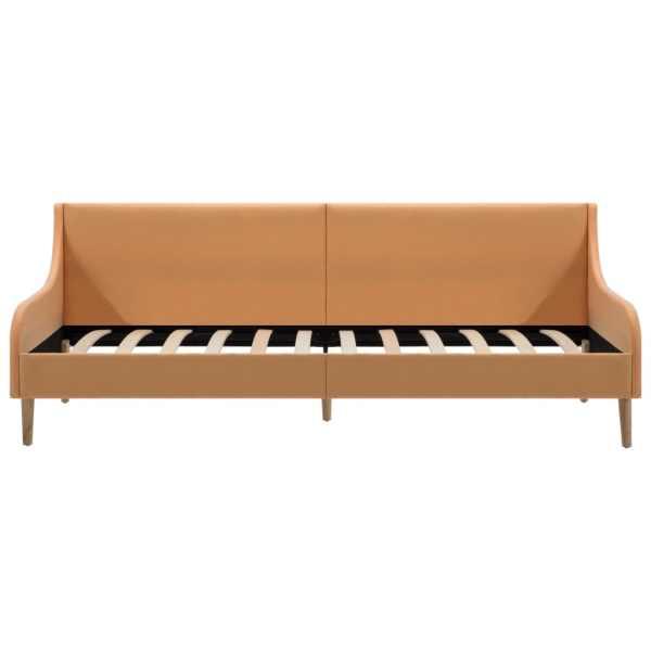 vidaXL Cadru de pat canapea, material textil, portocaliu