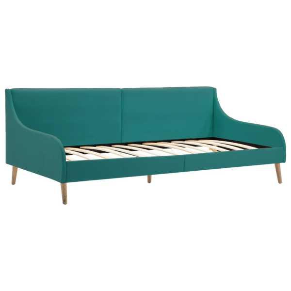 vidaXL Cadru de pat canapea, material textil, verde