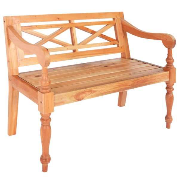 vidaXL Bancă Batavia, maro deschis, 98 cm, lemn masiv mahon
