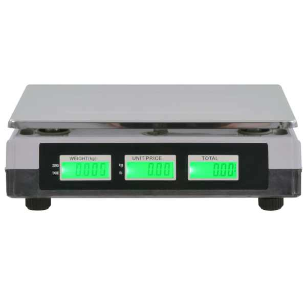 vidaXL Cântar digital cu baterie reîncărcabilă, 30 kg