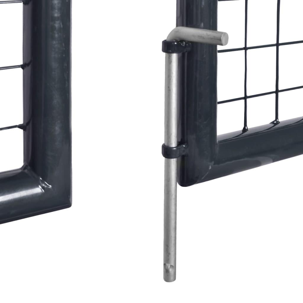 vidaXL Poartă din plasă de grădină, gri, 289×200 cm, oțel galvanizat