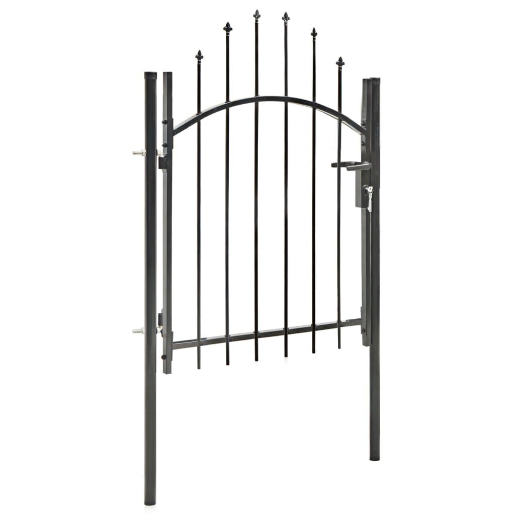 Poartă de grădină, negru, 1 x 1,5 m, oțel